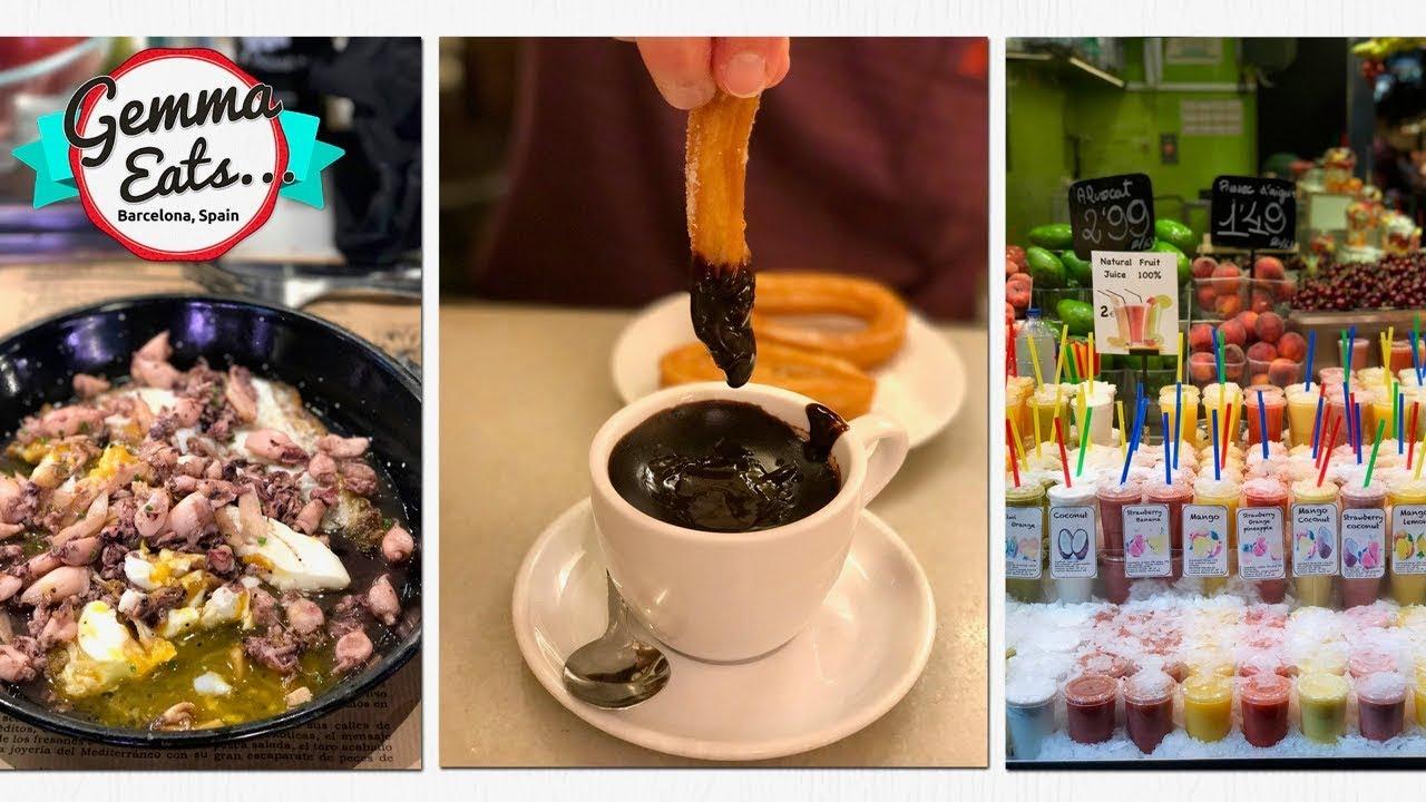 Gemma Eats…BARCELONA Food Tour   CHURROS and La Boqueria MARKET, BEST Spanish Food