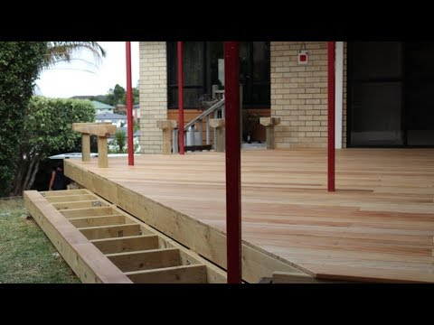 How to Lay DECKING , quick way to keep the boards straight