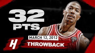 NBA Throwback: MVP Derrick Rose 32 Points Highlights vs Jeremy Lin & the Knicks | March 12, 2012