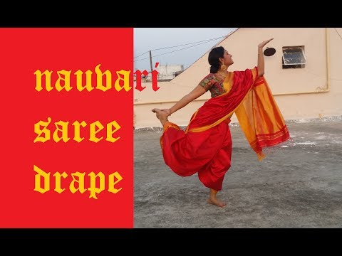 NAUVARI saree pinga drape from bajirao mastani