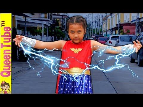 จะเป็นยังไงน่ะ ถ้าน้องควีนเป็น ซุปเปอร์ฮีโร่ ปกป้องโลก!! | Queen Bacame A SuperHero | QueenTubeTH ✔︎