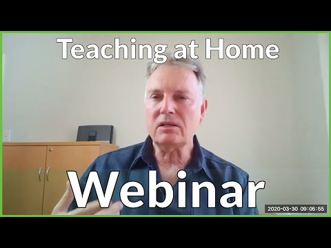 Dr Paul Swan Teaching at Home Webinar 1 March 30 2020