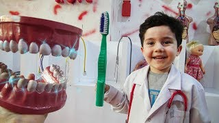 Yusuf Doktor Oldu | Kids pretend play with Toothbrush