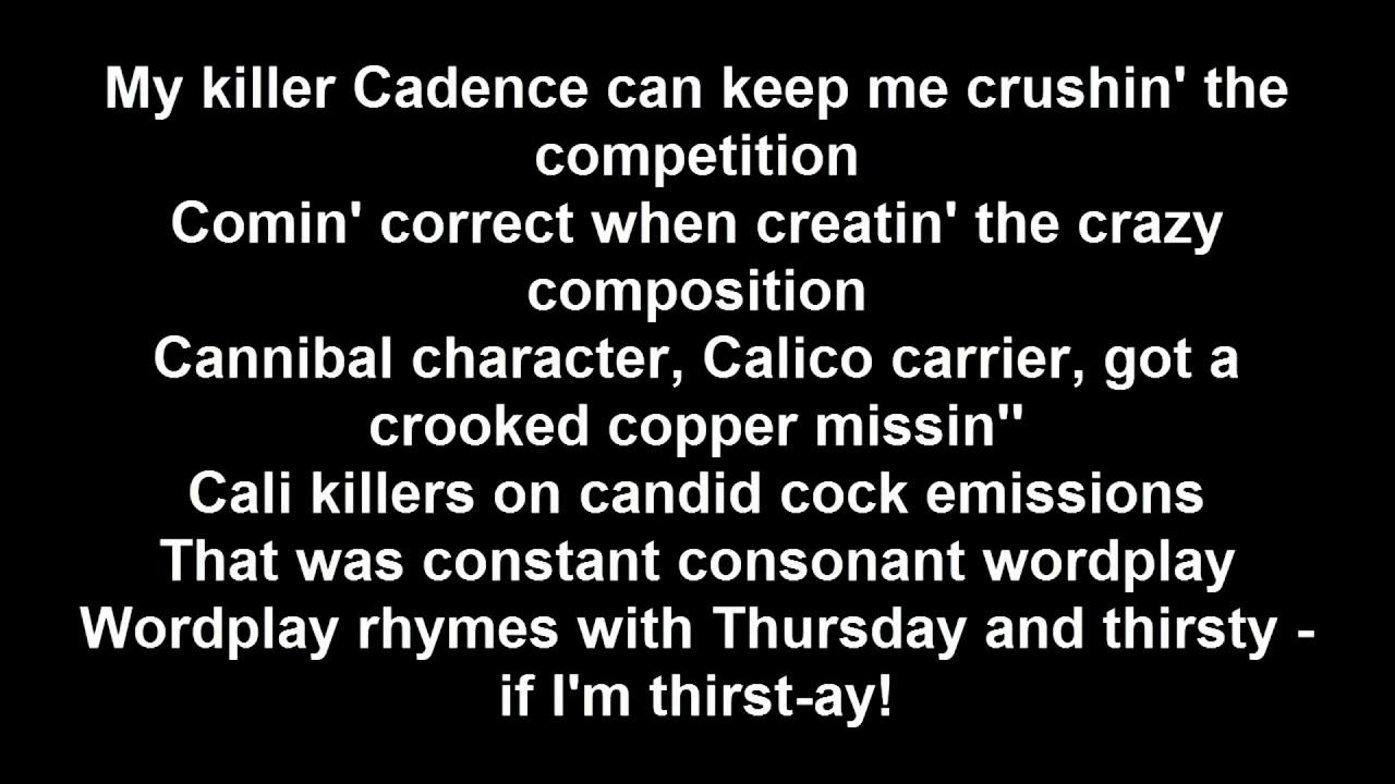 Lyrics containing the term: 101