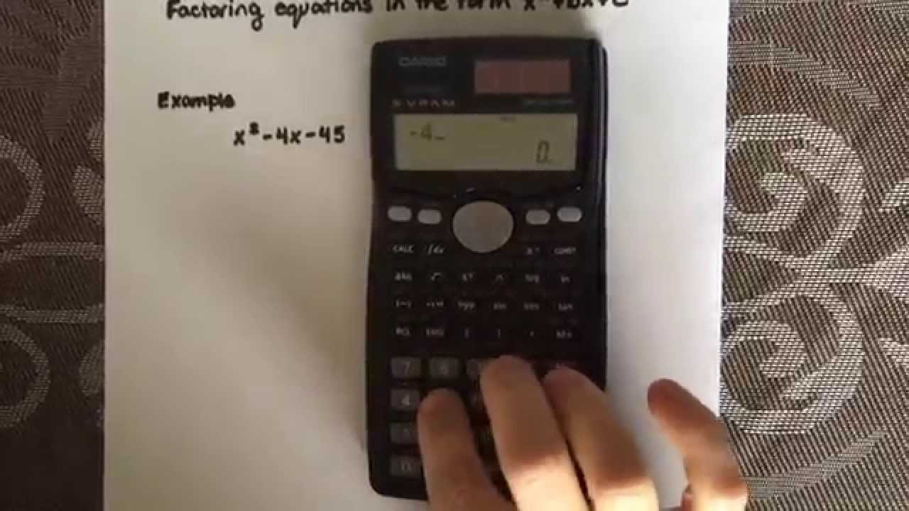 Factoring a simple quadratic equation using a calculator (Casio fx ...
