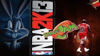 Nba 2K13 - Mod Space Jam y Slam Dunk - Gameplay Español