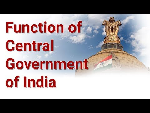P/6 functions of Central Government India and Indian President- Indian Constitution in Hindi