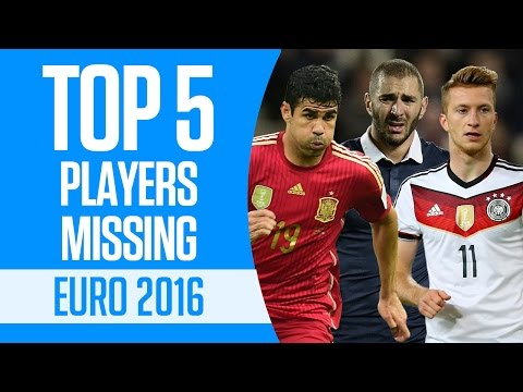 Top 5 players missing Euro 2016 New Flash Game