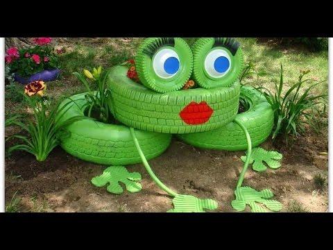 Как украсить двор своими руками с помощью подручных 79