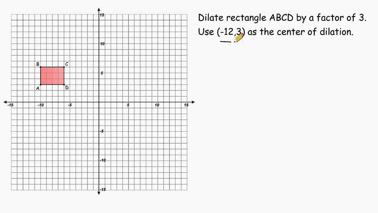 Dilation When The Center Of Dilation Is Not The Origin YouTube – Geometry Dilations Worksheet