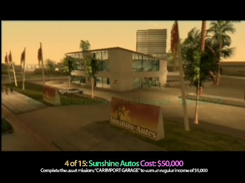 GTA Vice City: ALL 15 Asset/Safe-house Purchases
