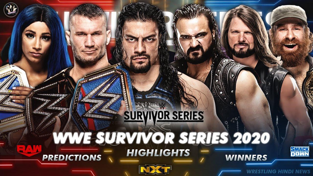 WWE Survivor Series 2020 100% Confirmed Results ! WWE Survivor Series 2020  Match Cards Predictions - YouTube