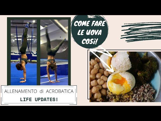 Allenamento di Acrobatica, Cosa Mangio e Life Updates    Daily Vlog #106