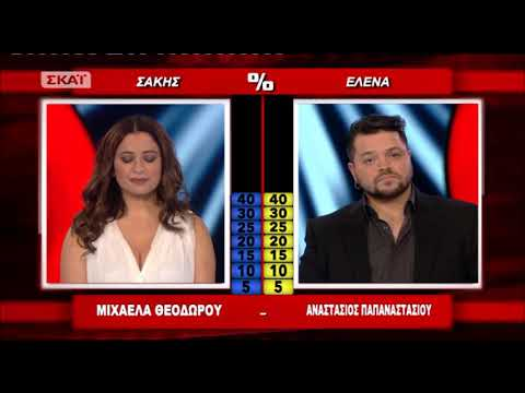 The Voice Of Greece | Live - Αναστάσιος Παπαναστασίου VS Μιχαέλα Θεοδώρου
