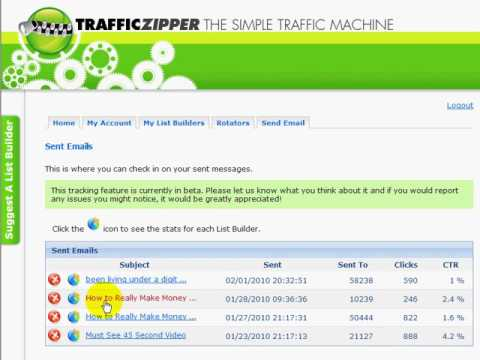 TrafficZipper.com Tracking Overview