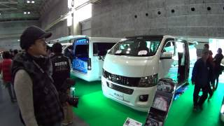 (HD)TOYOTA HIACE booth more wide view.