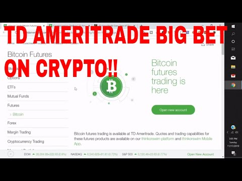 TD Ameritrade Cryptocurrency Bitcoin Futures Investment in ErisX Exchange from TD ameritrade