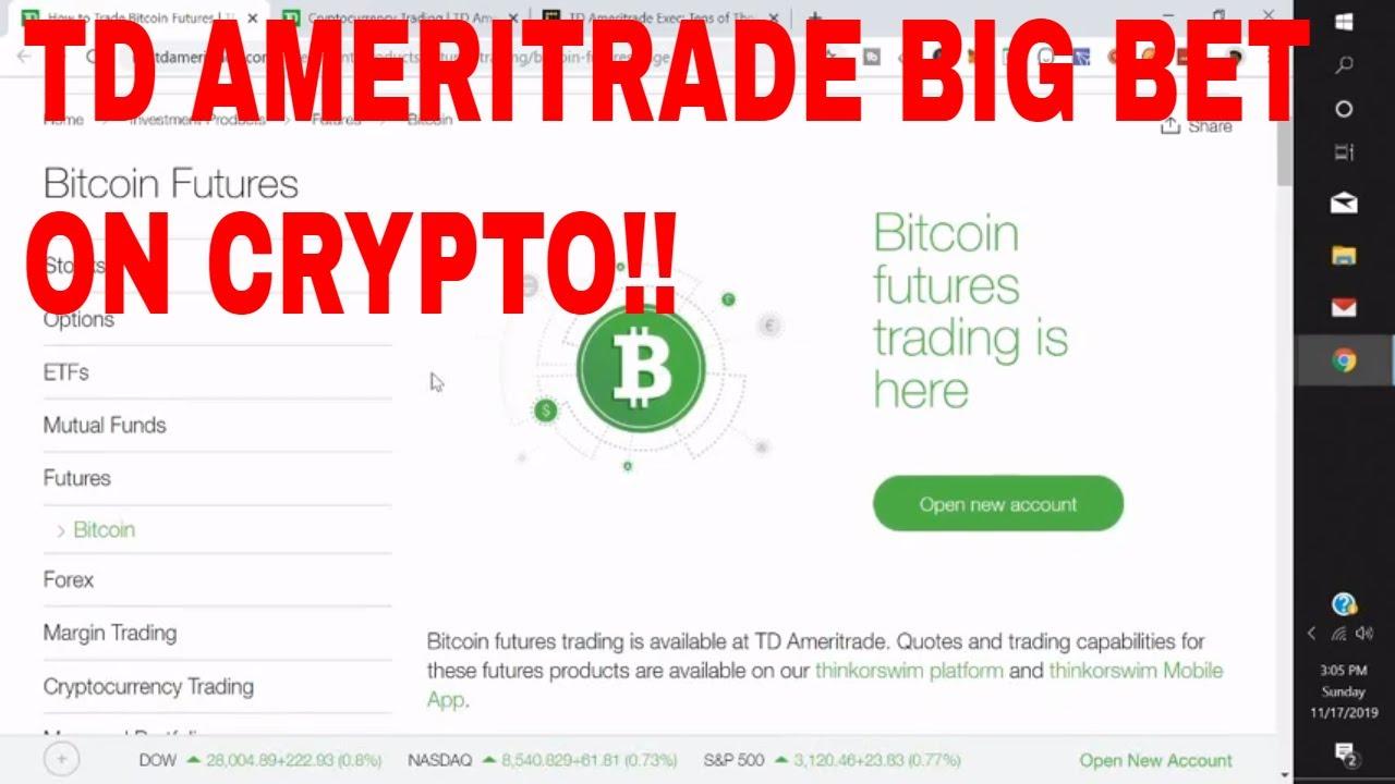 bitcoin futures td ameritrade symbol