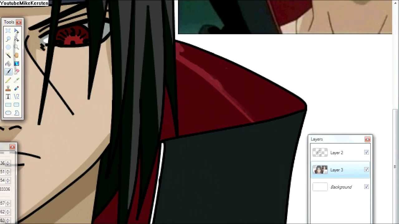 Naruto: Shippuden - Itachi Uchiha Speed Paint.net Drawing ...