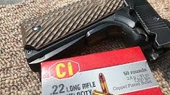 .22LR, 40gr CPRN, CI Ammunition Velocity Test