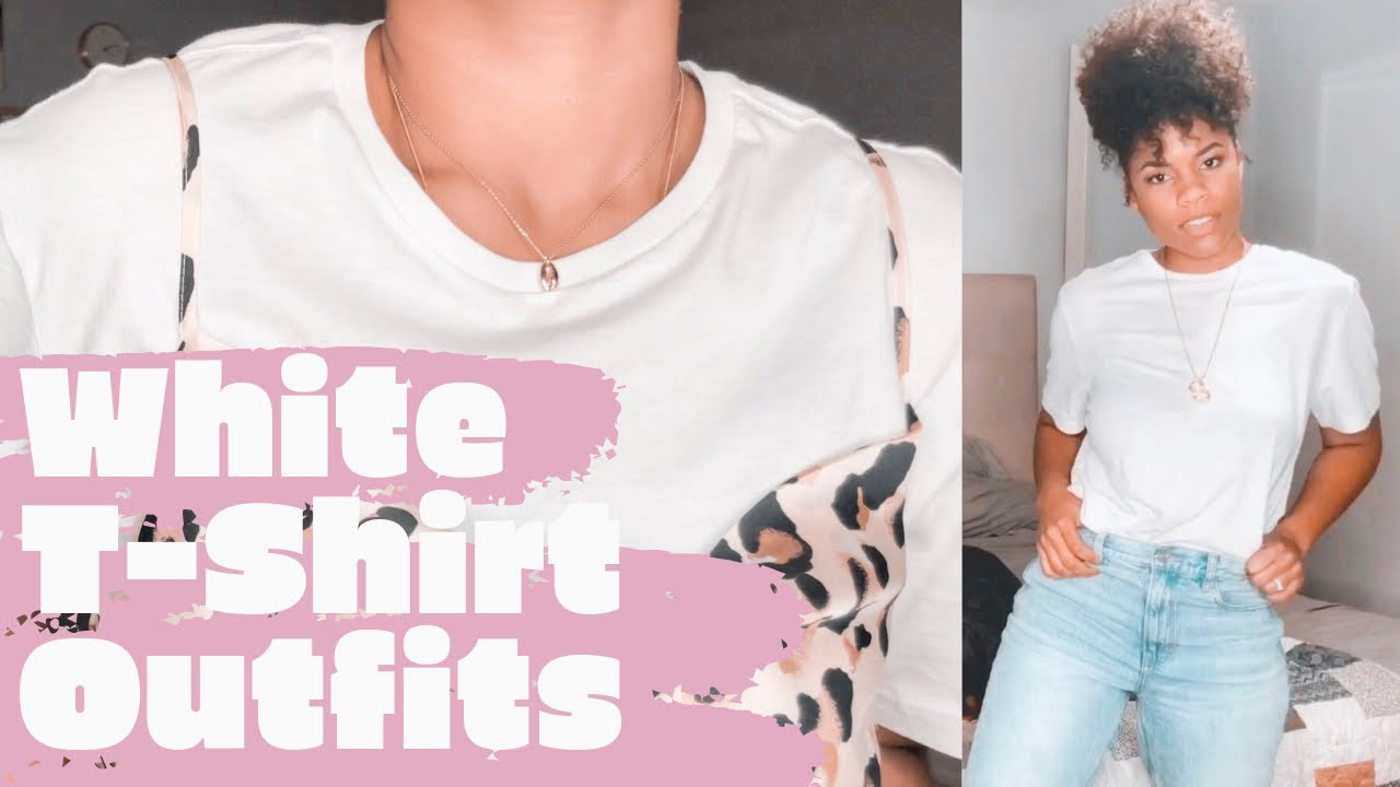 [VIDEO] - Ways to Wear a White T-shirt | Styling Transitional Fall Outfits 2