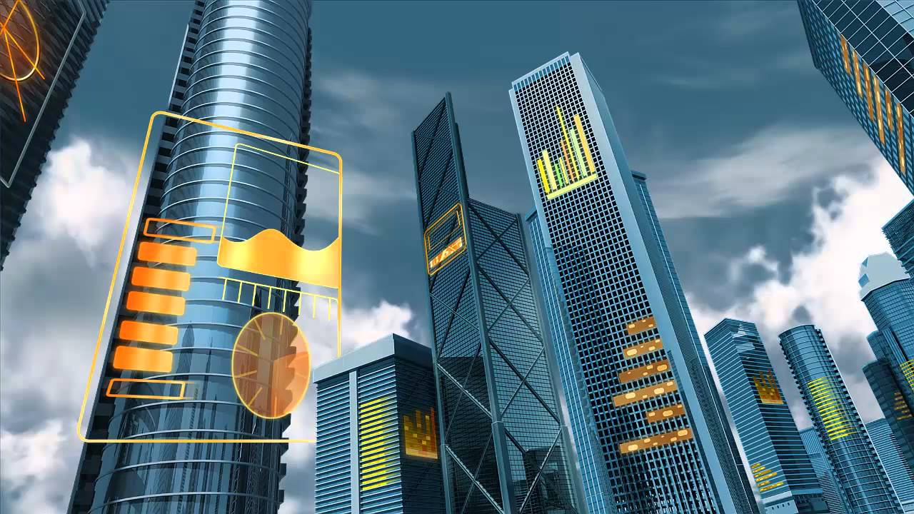 Superman Animated Wallpaper Animation Of High Tech Digital City Building Backed By