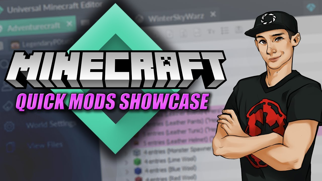 Universal Minecraft Editor - All Quick Mods Showcase & Tutorial!