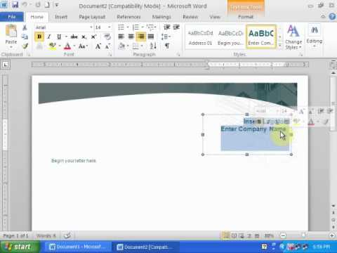 how to create a letter head in word