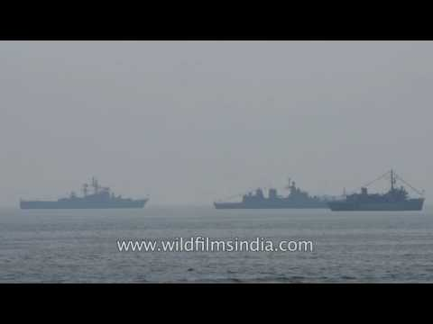 Indian Navy battle ships often provide safe passage to freight ships from Somalian pirates