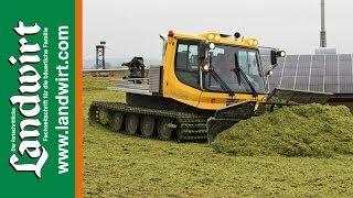 Kässbohrer PistenBully 300 GreenTech im Silage Einsatz