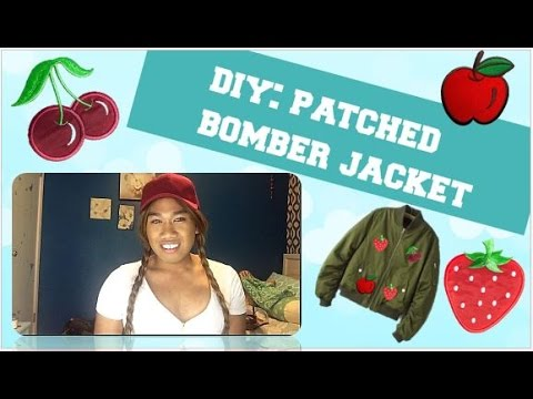 DIY: Patched Bomber Jacket