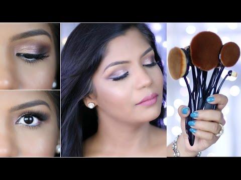 Easy Makeup Tutorial Ft  Oval Makeup Brush Set |Tried & Tested SuperPrincessjo