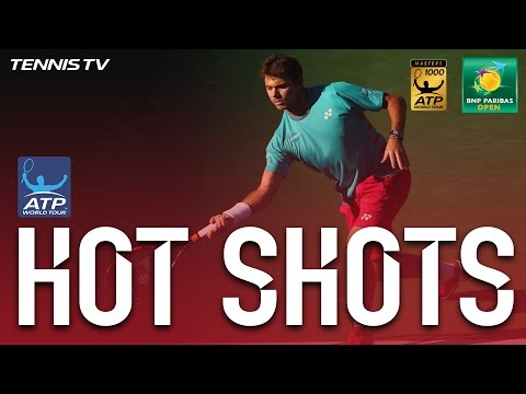 Hot Shot: Wawrinka Nails Backhand At Indian Wells 2017