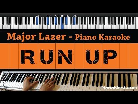 Major Lazer - Run Up - Piano Karaoke / Sing Along / Cover with Lyrics