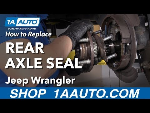 How to Replace Rear Axle Seal 06-18 Jeep Wrangler