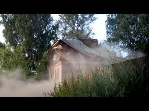 Снос дома в Ярославле.