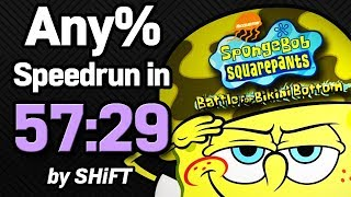 SpongeBob SquarePants: Battle for Bikini Bottom Any% Speedrun in 57:29 (WR on 2/15/2018)