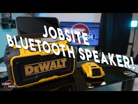 Dewalt Jobsite Bluetooth Speaker Review!