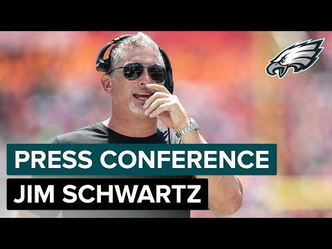 Defensive Coordinator Jim Schwartz Discusses Youth In The Secondary & More | Eagles Press Conference