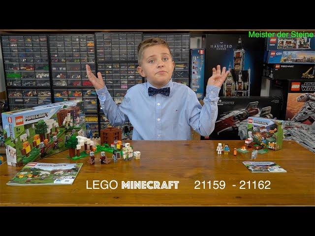 Lego MINECRAFT, Der Plünderer-Außenposten, 21159, Das Taiga-Abenteuer, 21162, Meister der Steine