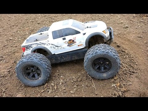 RC ADVENTURES - FORD RAPTOR hpi SAVAGE XS FLUX MiNi MONSTER Truck w/ BiG JOE TiRES