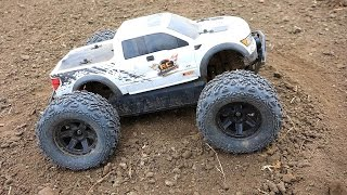 rc adventures ford raptor hpi savage xs flux mini monster truck w big joe tires