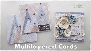 2 Ways of Multilayered Cards for Christmas ♡ Maremi's Small Art ♡