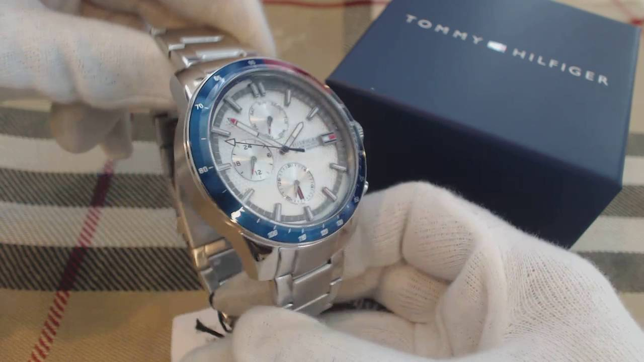 bdc22944 Men's Tommy Hilfiger Jace Multi Function Watch 1791166 - YouTube