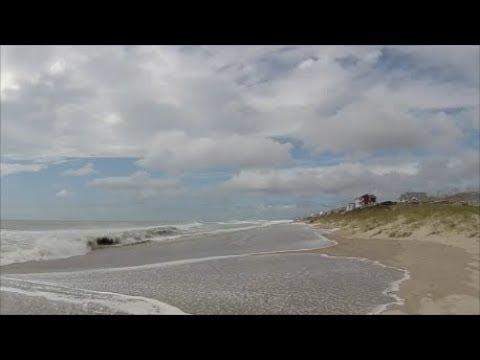 Hurricane Maria High Waves and Beach Erosion At Emerald Isle, North Carolina - Sept. 26, 2017