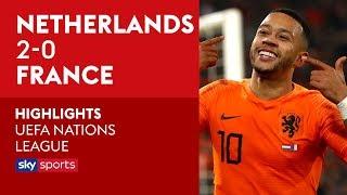 Depays panenka penalty! | Netherlands 2-0 France | UEFA Nations League Highlights