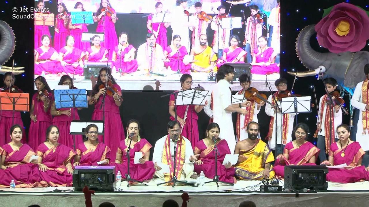 """Raganjali singers """"Anaro Anaro"""" at HH Chinna Jeeyar Swamiji Sashtipoorthi Celebrations"""
