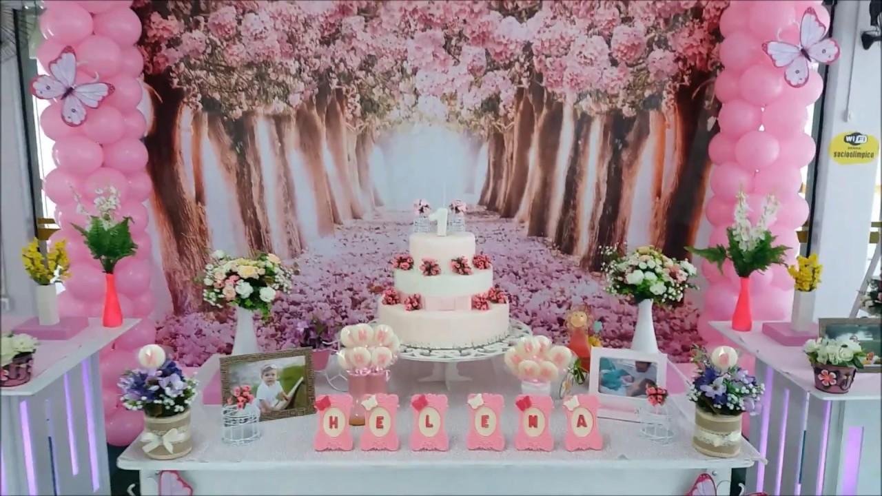 Decoraç u00e3o para festa de aniversario infantil Jardim Encantado YouTube -> Decoração De Aniversario Jardim Encantado Das Borboletas