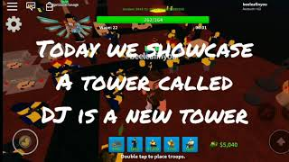 Showcases for DJ new tower (Tower defence simulator)Roblox
