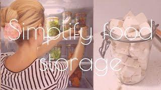 🍱How to SIMPLIFY food storage -MINIMALIST kitchen- organizing